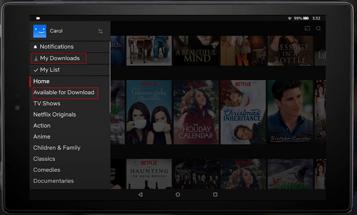 download netflix video on kindle fire
